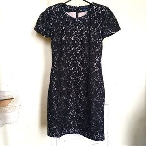 Gorgeous French Connection flower lace dress sz 0